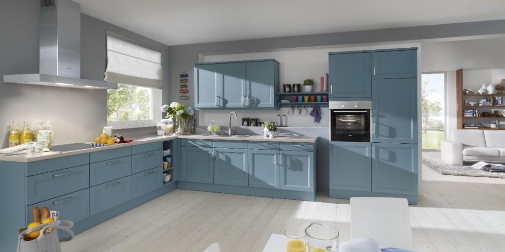 Küche Blau Grau